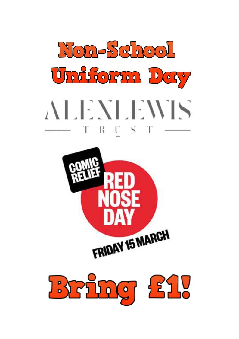 Non-School Uniform Day Friday 15th March, bring £1