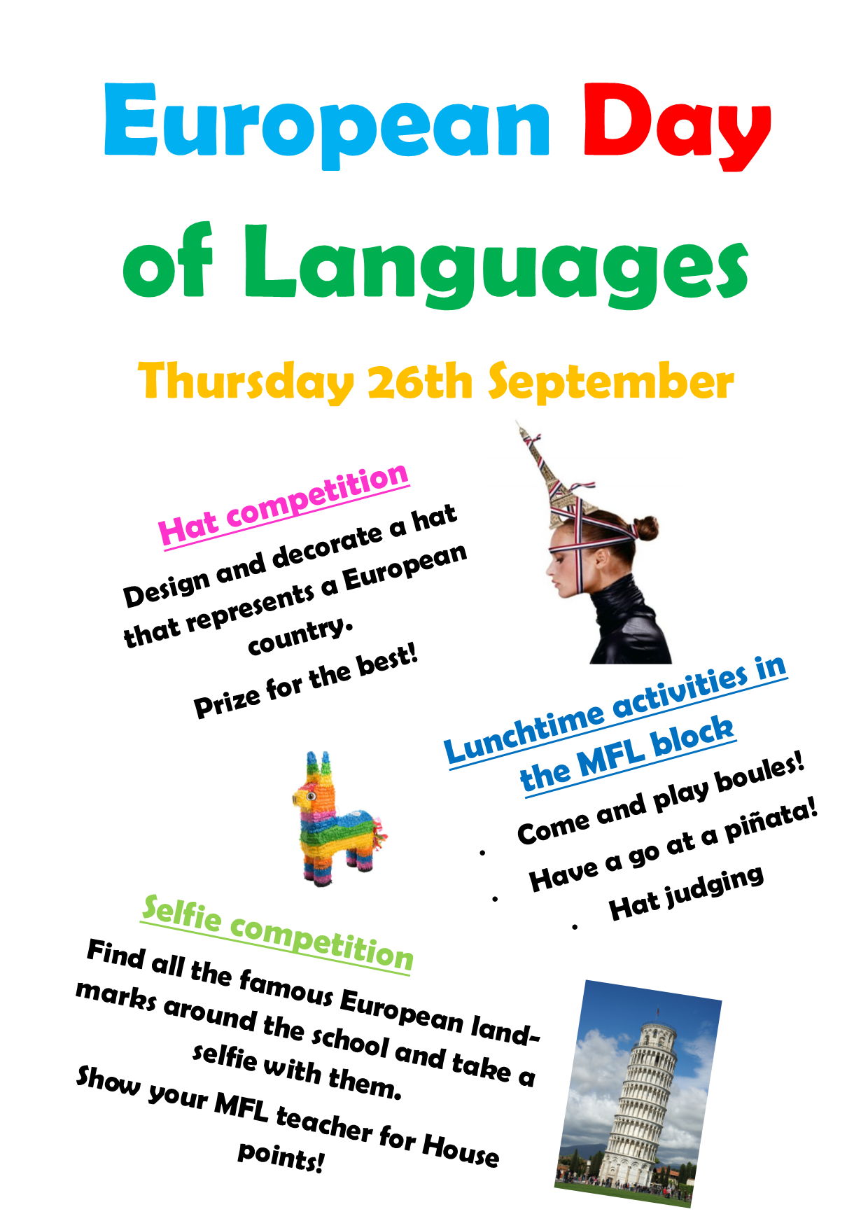 European Day of Languages, Thursday 26th September