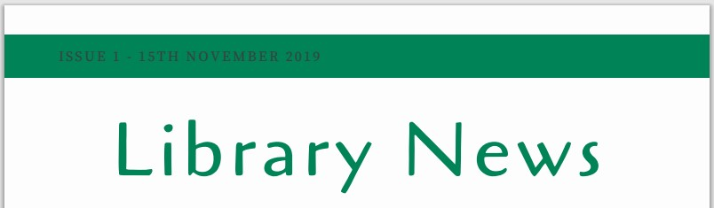 Library News Issue 1